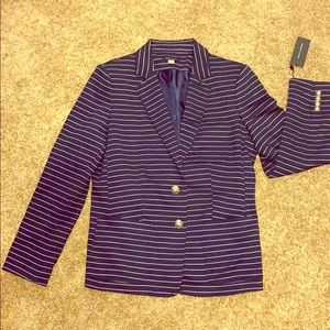 Blue and white striped jacket
